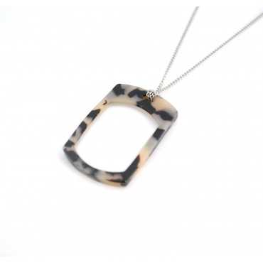 Loupe pendant cream scale rectangle