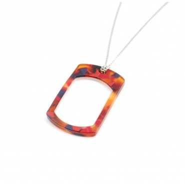 Loupe pendant red rectangle pattern