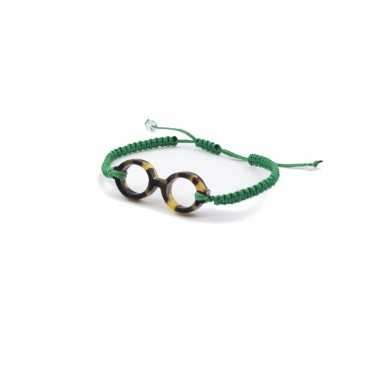 Green bracelet round glasses scale